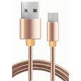 Кабель USB-MicroUSB 1м бронзовый алюминий WIIX CB850-UMU-AL-10BR