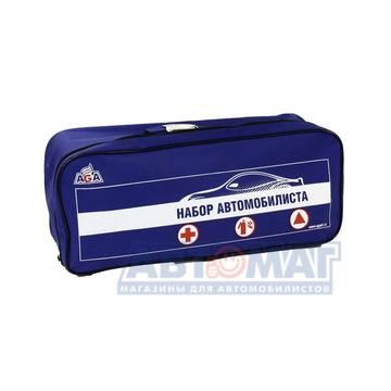 Набор автомобилиста AGA №1-Эконом (аптечка бюджет, огнетушитель, знак авар.ост, перчатки)