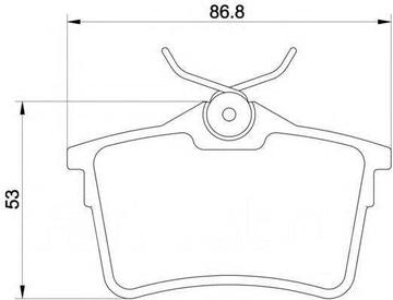 Колодки тормозные дисковые, задние (PN0472)