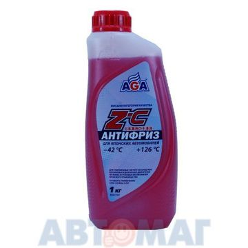 Антифриз готовый к применению для японских автомобилей AGA Z-C красный -42, 1кг