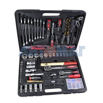 Набор слесарно-монтажного инструмента ZiPower 99 предметов, в пластиковом кейсе PM3967