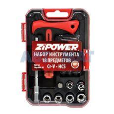 Набор бит и головок ZiPower 18 предметов PM5129