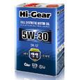 Масло моторное синтетическое Hi-Gear 5W30 SM/CF 4л