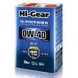 Масло моторное синтетическое Hi-Gear 0W40 SN/CF 4л