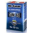 Масло моторное синтетическое Hi-Gear 5W40 SN/CF 4л