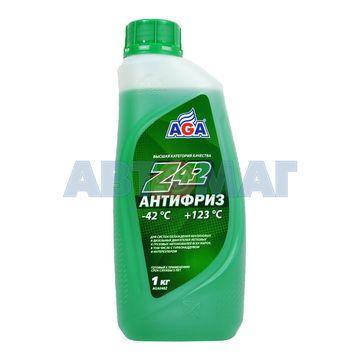 Антифриз готовый к применению AGA Z42 зеленый -42 , 946 мл