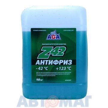 Антифриз готовый к применению AGA Z42 зеленый -42, 10л