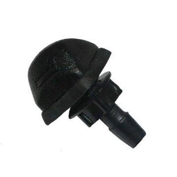 Форсунка омывателя 4 отверстия с гайкой с прокладкой черная