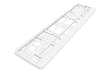 Рамка под номерной знак PM3991 белая