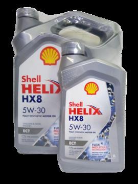 Масло моторное Shell Helix HX8 ECT 5w30 4л синтетическое + 1л в подарок