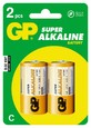 Батарейки GP C Super Alkaline (блистер 2шт)