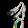 Кабель-переходник светомузыка USB-Type-C 1м CB930-UTC-2A-MUSIC-10R WIIIX