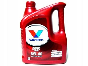 Масло моторное Valvoline Max Life 5w40 5л синтетическое