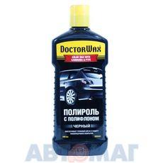Цветная полироль Doctor Wax с полифлоном (черная) 300мл