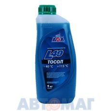Тосол готовый к применению AGA007L сине-зеленый -40, 946 мл