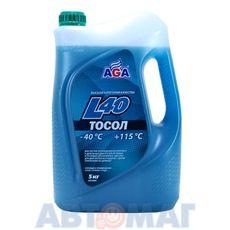 Тосол готовый к применению AGA008L сине-зеленый -40, 5л