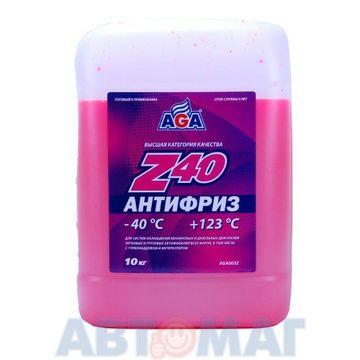 Антифриз готовый к применению AGA Z40 красный -40, 10л