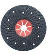 Диск обдирочный фибровый с демфирующими сегментами 180 мм, зерно - карбид кремния, зернистость 16/125