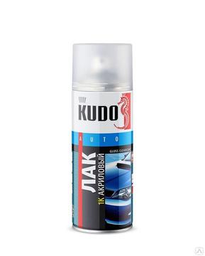 Лак 1К Kudo универсальный акриловый глянцевый (аэрозоль) (520 мл)