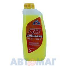 Антифриз готовый к применению AGA Z65 жёлтый -65, 1л