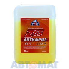 Антифриз готовый к применению AGA044Z желтый -65, 10л
