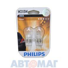 Автолампа W21/5W 12V PHILIPS 12066 B2 (блистер 2шт)