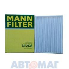 Фильтр салонный MANN CU 2138