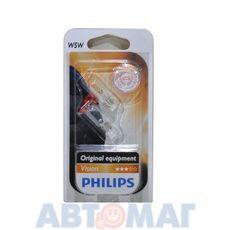 Автолампа W5W 12V PHILIPS 12961 B2 (блистер 2шт)