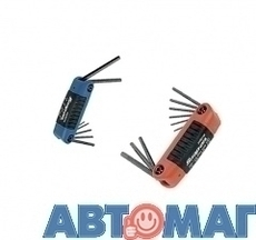 Два набора (дюймовый AWEF9K и метрический AWMEF7K) ключей  для винтов с внутренним шестигранником