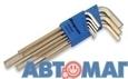 Набоp Г-образных  ключей для винтов с внутренним шестигранником, (1.5 - 10 мм) 9шт.