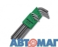 Набоp Г-образных ключей для винтов с внутренним шестигранником с отверстием, TORX Tamperproof Т9-Т40 8шт.