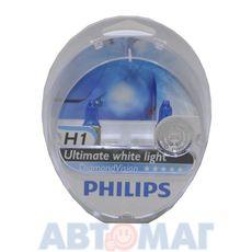 Комплект автоламп PHILIPS Diamond Vision H1 55W 12V