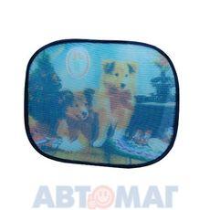 Шторки солнцезащитные на боковые стекла 2шт.(44х36см), рис. Яхта, AutoStandart