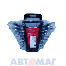 Набор ключей рожковых, 6 х 22 мм, 8 шт., CrV, хромированные// MATRIX