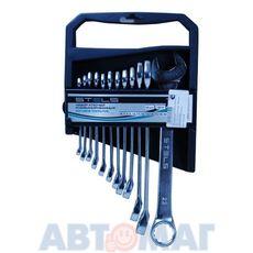 Набор ключей комбинированных, 6 - 22 мм, 12 шт., CrV, матовый хром// STELS