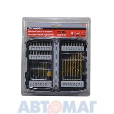 Набор бит и свёрл,магнитный адаптер,CrV, в пласт. боксе,40шт.//MATRIX