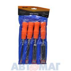 Набор стамесок 4 шт, 6-12-18-24 мм, плоские, пластиковые ударные  рукоятки// SPARTA