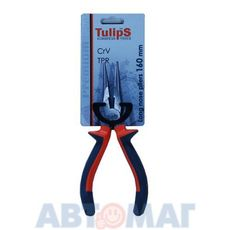 Щипцы удлиненные прямые, 160мм, CrV, двухкомпонентные рукоятки (Tulips Tools)