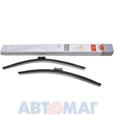 Комплект бескаркасных щеток стеклоочистителя AutoStandart 106417 530мм + 475мм