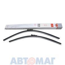 Комплект бескаркасных щеток стеклоочистителя AutoStandart 700мм + 600мм