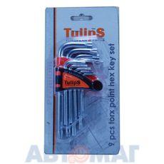 Набор ключей TORX 9шт, короткие, CrV (Tulips Tools)
