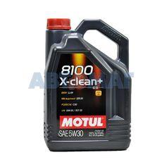 Масло моторное Motul 8100 X-Clean+ 5w30 5л синтетическое