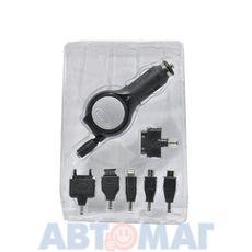 """Устройство зарядное универсальное """"3 в 1"""" микро-USB, USB(2А) для iPad, iPhone4/5 (черный) CS005-I5 WIIIX"""