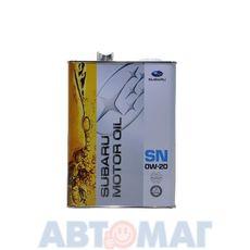 Масло моторное Subaru SN/GF-5 0w20 4л синтетическое