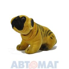 "Ароматизатор ""Собака качающая головой"" Шарпей желтый (лимон)"