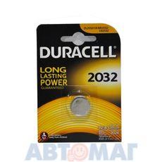 Эл-т питания Duracell DL2032 BP1(в бл.1шт) (шт)