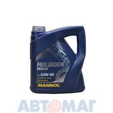 Масло моторное MANNOL Molibden Benzin 10w40 4л полусинтетическое