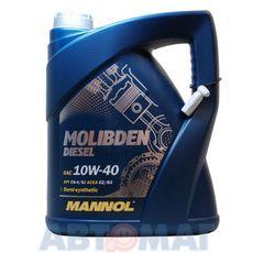 Масло моторное MANNOL Molibden Diesel 10w40 5л полусинтетическое