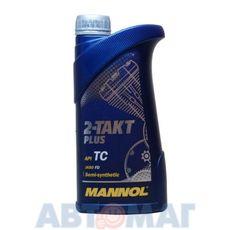 Масло моторное MANNOL 2-takt plus 1л полусинтетическое