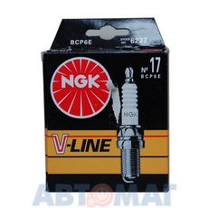 Комплект свечей зажигания NGK V-Line №17 BCP6E (4шт)